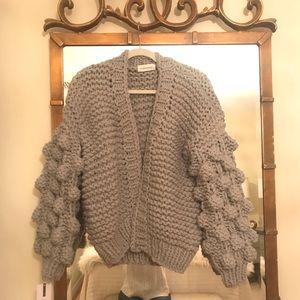 236371de896a76 Goodnight Macaroon Sweaters - Abbey Hand Knit Pom Pom Chunky Cardigan